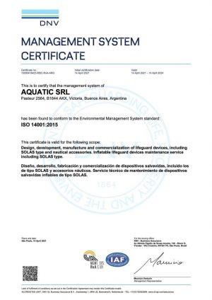 ISO 14001 Aquatic